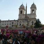 イタリア旅行でローマのスペイン階段