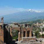 シチリア島タオルミーナのギリシャ劇場