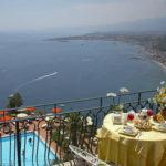 シチリア島タオルミーナのホテル
