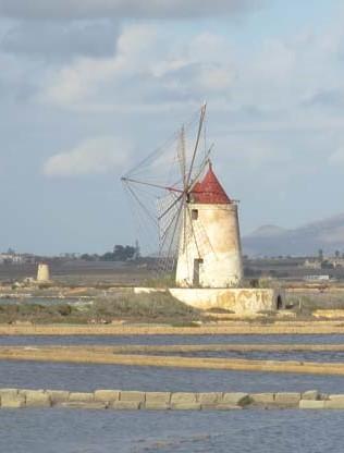 シチリア島のトラーパニ塩田