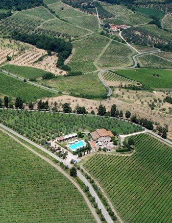 イタリアの田園トスカーナのアグリツーリズモ